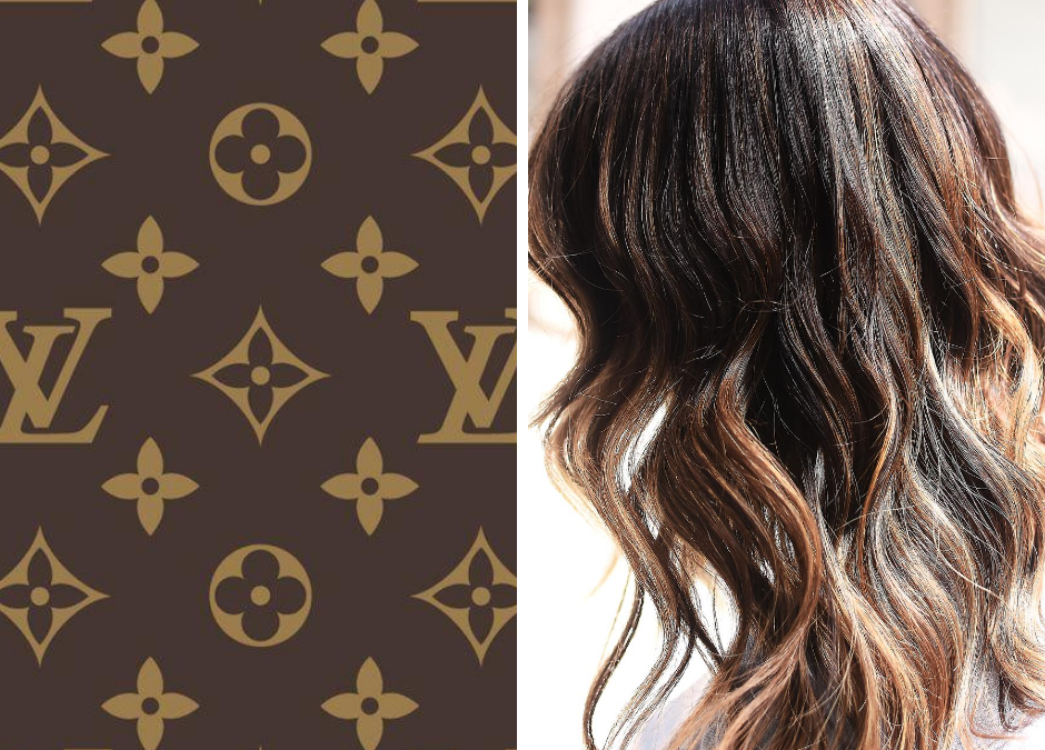 Balayage Brown Hair ,il castano che si ispira alla monogram Louis Vuitton]